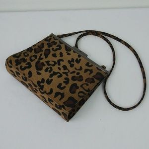 Vintage NINE WEST Animal Print Small Crossbody